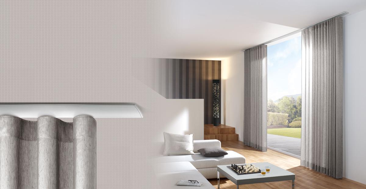 gardinenstangen und schienensysteme spitzenwerk. Black Bedroom Furniture Sets. Home Design Ideas